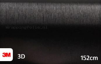 3M 1080 BR212 Brushed Black Metallic wrapping folie