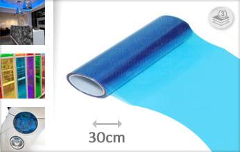 Blauw lampen folie