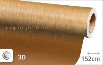 Geborsteld aluminium goud wrapping folie