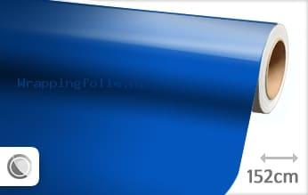 Glans blauw wrapping folie