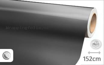 Glans metallic antraciet wrapping folie