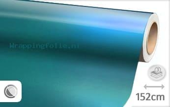 Glans metallic lichtblauw wrapping folie