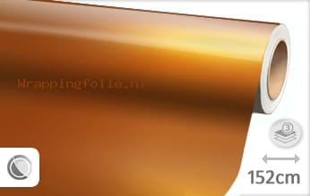 Glans metallic oranje wrapping folie
