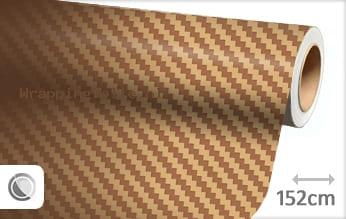 Goud 3D carbon wrapping folie