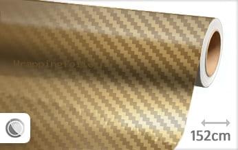 Goud chroom 3D carbon wrapping folie