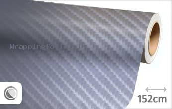 Grijs 4D carbon wrapping folie