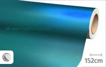 Mat chroom lichtblauw wrapping folie