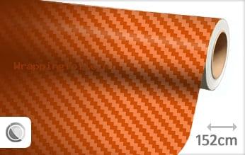 Oranje 3D carbon wrapping folie