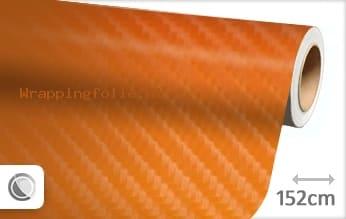 Oranje 4D carbon wrapping folie