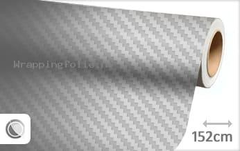 Zilver 3D carbon wrapping folie