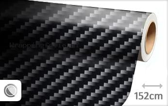Zwart 2D carbon wrapping folie