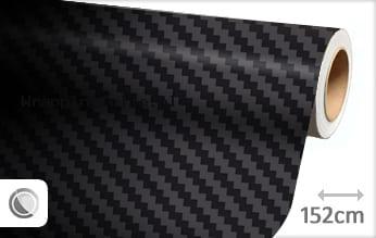 Zwart 3D carbon groot wrapping folie