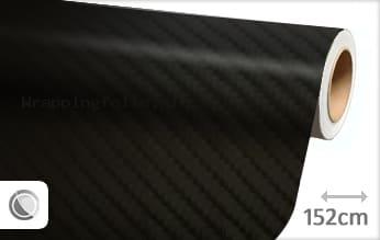 Zwart 4D carbon wrapping folie